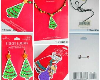 Mary Engelbreit Christmas Jewelry - Vintage Mary Engelbreit - Mary Engelbreit Jewelry - Mary Englebreit - Mary Engelbright - Cherry Chick -