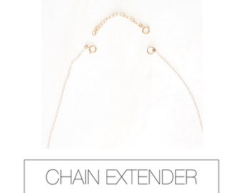 """EXTENDER: 2-3"""" silver chain extender. gold chain extender. necklace extender. make necklace longer. add length to necklace."""