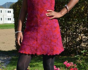 Dress, Walkkleid, tunic, wool dress, winter dress, wool tunic