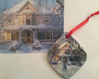 Custom Hand Painted Ornament of Your House