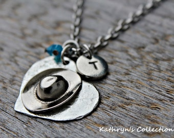 Cowgirl Necklace, Cowboy hat Necklace, Cowgirl, Rodeo Jewelry, Equestrian Jewelry