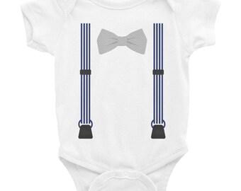 Suspender Infant Bodysuit/ Suspender Onesie