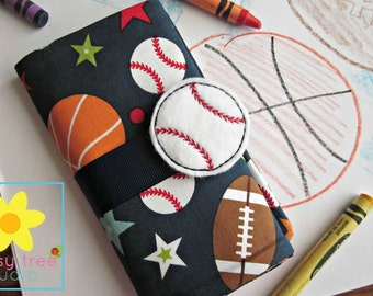 Crayon Caddy, Crayon Roll, Crayon Wallet, Crayon Holder, Crayon Roll Up, Crayon Keeper, Crayon Organizer, Crayon Tote, Baseball, Sports