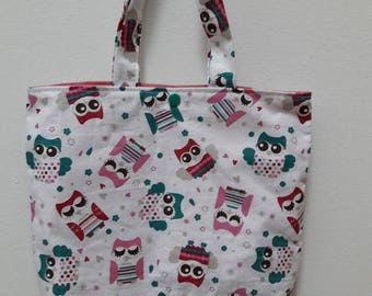 Kids Tote Bag pattern owls