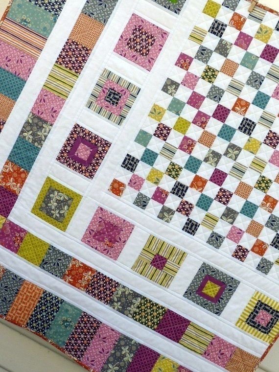Bricks and stones quilt pattern pdf file a red pepper quilts for Red door design quilts