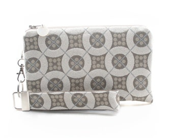 White bridal clutch is a fabric evening bag for women - small wedding handbag for bridesmaid gift