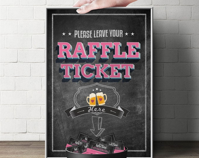 """Diaper Raffle Sign """"BABY IS BREWING"""" (Printable File Only) Bring Diapers for Mom Raffle, baby shower, baby shower games, baby shower sign"""