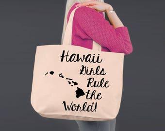 Hawaii   Bridesmaid Tote   Tote Bag   Canvas Tote Bag   Beach Tote   Canvas Tote   Shopping Tote   Shopping Bag   Korena Loves