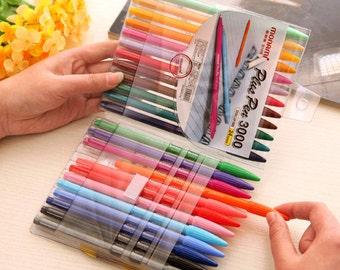 Set of 24 color pens