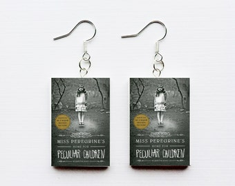 Miss Peregrine's home for peculiar children mini book earrings