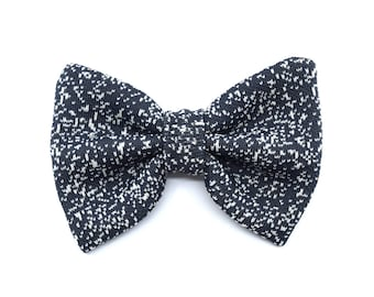 Galaxy collection - bow tie dark grey - white spots