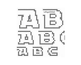 Cross stitch font Star Wars alphabet, PDF Instant download.