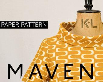 The French Dart Shift Tunic sewing pattern, PRINTED PATTERN, tunic sewing pattern, womens paper pattern, top, tunic pattern, dress pattern