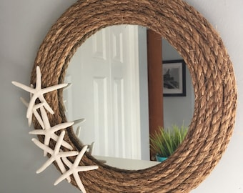 Rope Mirror with Starfish
