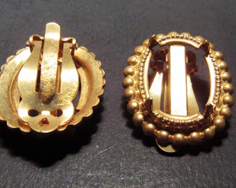 Gold color Ear Clips for 20x15mm cab
