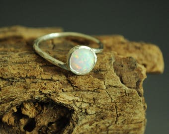 Opal ring. White Opal Ring Silver. Mothers ring. Fire Opal Ring. dainty stack ring. Gold opal ring. Promise ring opal. Mothers day Gift