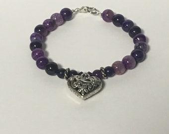Purple Heart Braclet