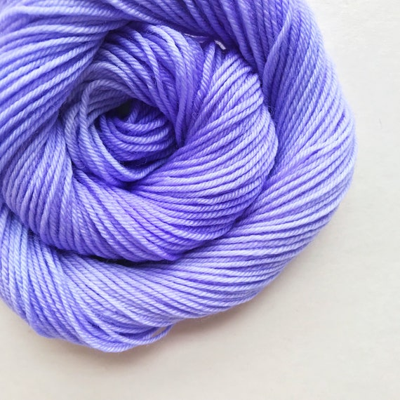 VIOLET ICING hand dyed yarn