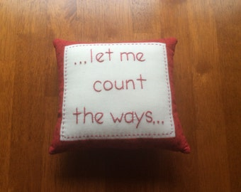 Let me count the ways pillow