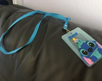 Lilo stitch and scrump id pass holder