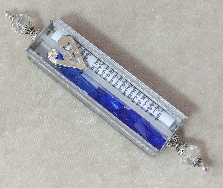 Mezuzah Wedding Glass Shards Holder
