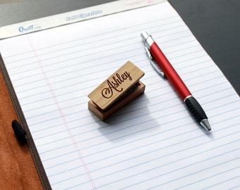 Engraved Wood Stapler, Customized Wood Stapler,Personalized Stapler, Engraved Mini Stapler,Custom Wood Mini Stapler --STP-WOOD-Ashley