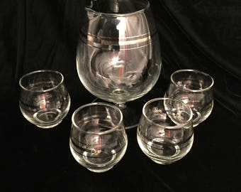 Platinum Trim Snifters and Serving Snifter
