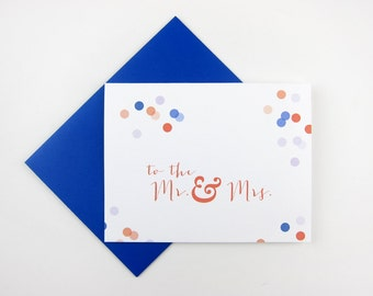 Mr and Mrs / Mr and Mr / Mrs and Mrs: Wedding / Engagement Card