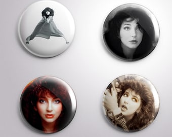 4 KATE BUSH pins / buttons / magnets - Music - Different options