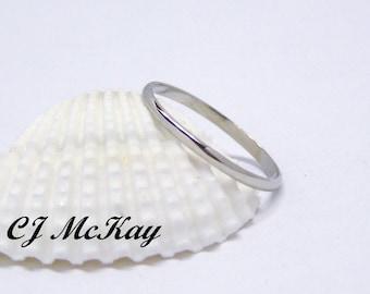 Wedding Band, Dainty Wedding Band, Small Wedding Band, Dainty Wedding Ring, 14K White Gold Wedding Band, Wedding Ring, Dainty Wedding Ring,