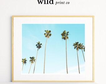 Palm Tree Print, Palm Tree Wall Art, Palm Sky Print, Tropical Decor,