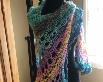 Mermaids Love Unicorns Handmade Crochet Shawl