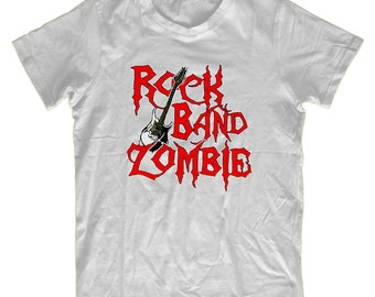 Rock Band Zombie H37 T-Shirt - Mens Funny T shirt Humorous Birthday Gift Comedy Quality, Zombie Fan