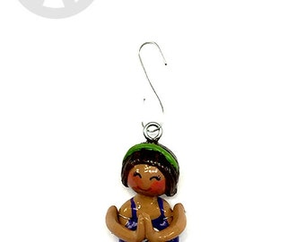 Namaste Collection:  Kiara Myra (Ornament) - Sitting Namaste Pose - CAN BE PERSONALIZED w/ Add-On Option