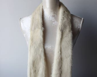 White and cream tassel mohican fur hood l9B3wD