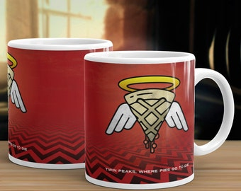 Twin Peaks Cherry Pie Coffee Mug, 11oz or 15oz Where pies go to die.