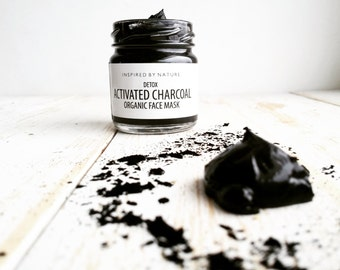 Activated Charcoal Facial Mask, Detox Mask, Facial Mask for Acne, Activated Charcoal Mask, Acne Mask, Tea Tree Mask, Lavender Mask,