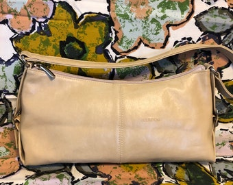 Cute Small/Medium Size Top Handle Sand/Beige Handbag/Purse by Nardini Made in Italy