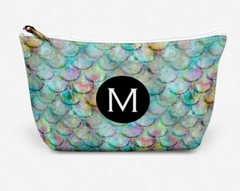 """Mermaid Scale  Make Up Bag, Cosmetic Case, Carrying Pouch, Accessory Pouch 12.5""""x8.5"""" or 8.5""""x6"""""""