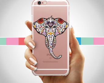 Sugar Skull Elephant iPhone case, Day of the dead iPhone case, iPhone 8 day of the dead case, iphone 7, iPhone 6, sugar skull iPhone 7 case