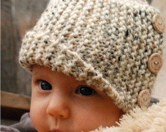 Knitting PATTERN-The Baby Poppy Cloche' (0/3-3/6-6/12 month sizes)