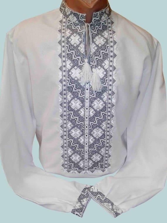 Handmade Vyshyvanka for men Ukrainian embroidery Linen shirt men Made in Ukraine Vyshivanka Vishivanka Ukrainian gift Easter dress shirt Xk2qMHt