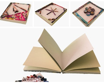 Recycled paper notebook, kit notebooks, 3 decorated notebooks, gift idea