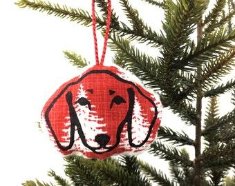 Fleecy Dachshund Christmas Decoration