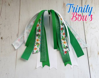 Bookworm - Back to School - Ponytail Streamer - Green