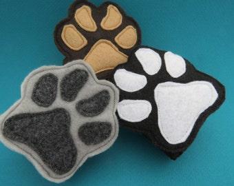 Paw Cuffs - Animal Paw Prints - Paw Wristbands - Animal Mask Add On - Dog - Wolf - Bear