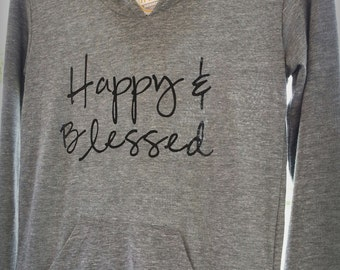 Happy & Blessed Long-Sleeve LADIES' Classic Pullover Hoodie