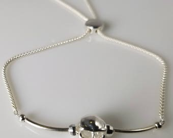 925 Sterling Zilver schedel armband