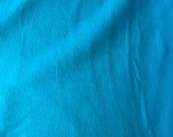Bright Blue Flannel HALF YARD