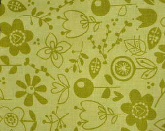 "LAST ONE!  28"" x 44"" wide Riley Black Designs Green Happy Skies for Bella 100% Cotton Quilt Fabric"